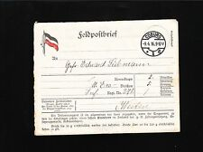 Germany WWI Feldpostbrief Lettersheet Coburg 1916 Cover Some Foxing 3x