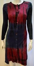 PLUS SIZE TIE DYE BOHO CHIC HANKY HEM BUTTON UP TUNIC DRESS MULTI 16 18 20 22