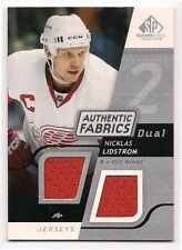 Nicklas Lidstrom 08-09 UD SP Game Used Authentic Fabrics Dual Game Worn Jersey