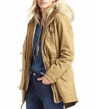 NWOT Gap Women's 2-in-1 hooded parka Jacket, Cream Caramel SIZE SP S P #242247
