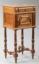 French Henri II Style Carved Walnut Marble Top Nightstand, late 19th... Lot 2528