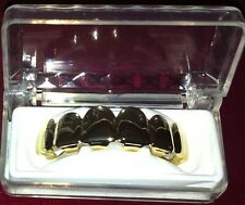 14K Gold Plated Hip Hop Grillz Upper Top Teeth Grill w/ Molding New in Box