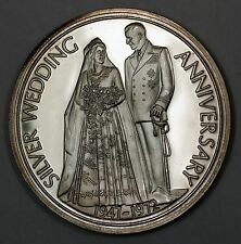 1972 Silver Wedding Anniversary Elizabeth & Philip Duke Edinburgh Proof Medal