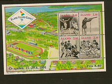 ALAND : 1991 Small Islands Games Miniature Sheet SG MS49 unmounted mint