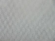 """FABRIC BLEACHED WHITE STRETCH LACE MATERIAL by Yard 41"""" WIDE"""
