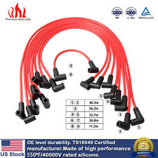 7mm RED Spark Plug Wires/Powercable 1988-1995 Chevy GMC Truck 5.0/5.7L US Stock