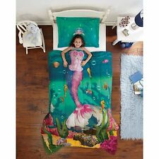 Kids Comforter Set for Girls Twin Mermaid Sea Princess Ocean Bed Bedding Sham