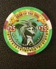 palms las vegas chinese new year of the dog $25 casino chip unc