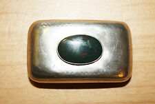 Georgian Sterling Silver Snuff Box with Bloodstone