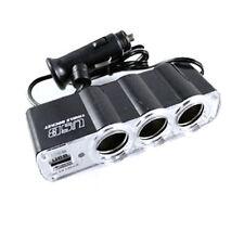 Hot Triple Socket Car Van Cigarette Cigar Lighter Adapter Plug USB Port 3 in 1