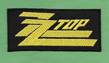 """New ZZ Top ' Yellow' 2 X 4  """" Inch Iron on Patch Free Shipping"""