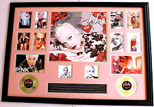 New Pink Signed Oversized Limited Edition Memorabilia