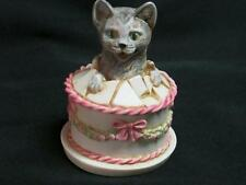 NIB Harmony Kingdom Gateau Cat in the Birthday Cake from the Treasure Jest Colle