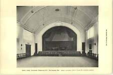 1927 Morley College Westminster Bridge Road Interior: The Assembly Hall