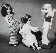 KNITTING PATTERN MAKE 6 VINTAGE OUTFITS SINDY BARBIE DOLLS CLOTHES DRESSES