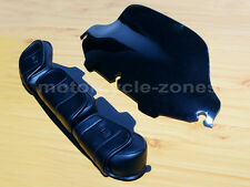 "6"" Black Windshield+Bag Saddle 3 Pouch Pocket Harley Touring Electra Glide 96-13"