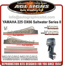 YAMAHA 225 OX66 V6 Saltwater Series II Outboard Decals, Reproductions