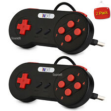 2× SNES USB Controller Super Nintendo Games Retro Famicom Gamepad For PC/M