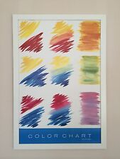 Color Chart poster, Mary Ann Nelson print, - 91x61cm frame, 80's rare wall art