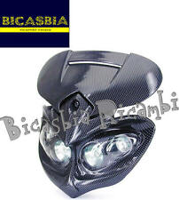 8419 - MASCHERINA FARO FANALE ANTERIORE MANGA CARBON LOOK ENDURO CROSS NAKED