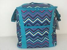 NWT SIMPLE FUNCTION 25L Insulated Cooler Bag Multi-Color Zigzag Picnic Lunch