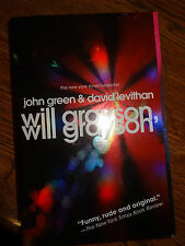 DAVID LEVITHAN SIGNED AUTOGRAPHED WILL GRAYSON, WILL GRAYSON JOHN GREEN