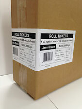 1 - 100,000 5 Numbered Raffle Ticket on Rolls - Spinners Club Draw Stock Green