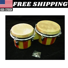 Stagg BW-200-N 7.5-Inch and 6.5-Inch Latin Wood Bongos-Natural