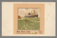 [53355] OLD CASSIERS POSTCARD RED STAR LINE C-4
