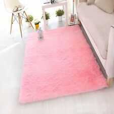 Shaggy Fluffy Rugs Anti-Skid Area Rug Dining Room Carpet Home Bedroom Floor Mat