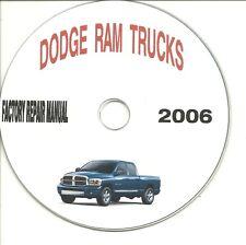 2004 - 2006 Dodge Ram Trucks 1500 2500 3500  Service/Repair Manual CD