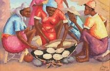 PETION SAVAIN (Haitian, 1906-1975). HAITIAN WOMEN COOKING, signed and... Lot 310