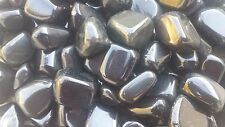 THREE (3) OBSIDIAN TUMBLED STONES MEDIUM/LARGE NATURAL TUMBLE STONES
