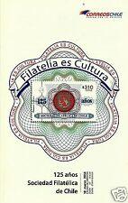 CHILE, 125th. ANNIV. CHILEAN PHILATELIC SOCIETY BROCHURE, YEAR 2014