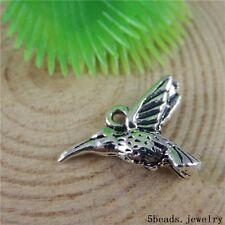 36 Stück Antike Bronze Legierungs Hummer Vogel Anhänger Charme crafts 50786