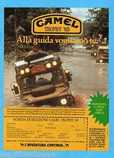 QUATTROR984-PUBBLICITA'/ADVERTISING-1984- CAMEL TROPHY '85