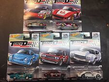 2017 Hot Wheels Car Culture Track Day 5 Car Set Datsun Bluebird 510 Porsche VW