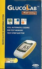 Glucolab Auto-coding blood glucose monitor!! Strips And Needle 10 Each