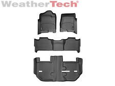 WeatherTec​h FloorLiner - GMC Yukon XL w/ Bench Seats - Full Set-2011-2014-Black
