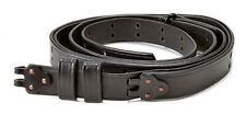 "BLACK LEATHER M1907 MILITARY RIFLE SLING M1GARAND 1903 SPRINGFIELD  1"" width"