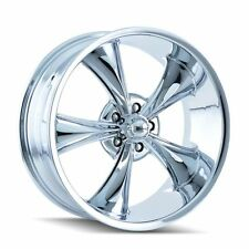 "17X7 RIDLER 695C CHROME TORQ THRUST STYLE ALUMINUM WHEEL 5X4.75 4""BS"