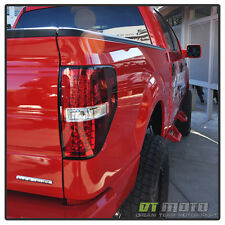 Fits 09-14 Ford F150 Styleside Lumileds Led Perform Red Clear Tail Lights Lamps