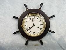 German Watch Striking Brass Schatz Ships Wheel Clock
