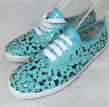 JC Play Jeffrey Campbell Women's Peg-Daisy Cutout Turquoise Sneakers 8 $100 ns34