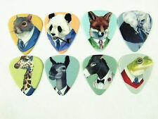 10pcs 1.0mm Musical Accessories Two Sides Animal Gentleman Guitar Picks