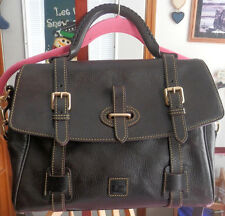 Dooney & Bourke Florentine Leather Flap Tab Satchel