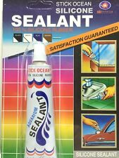 GLUE SILICONE SEALANT RUBBER AQUARIUMS STICK OCEAN REPAIR LEAK AND CRACK 30 G.
