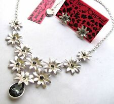 Betsey Johnson crystal  Small flowers collect Necklace earring set#254T