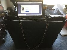 Auth Chanel Leather Bag With Dust Bag