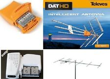 KIT IMPIANTO ANTENNA TV TELEVES 1465 5360 5796 + ANTENNA VHF ALCAD BT-751